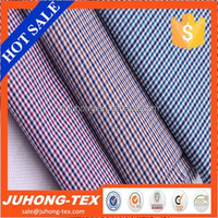 Good quality of 100% combed cotton check /plaid fabric.