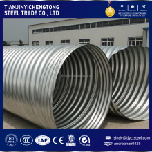 Welding half circle galvanized corrugated steel pipe for culvert