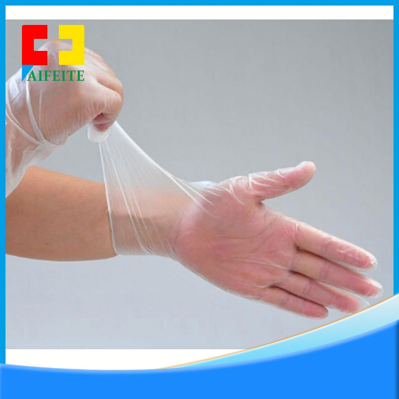 high quality hospital softtextile disposable vinyl glove