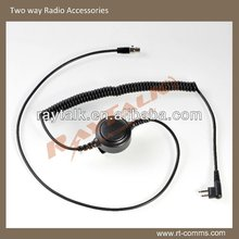 Detachable earbone vibration microphone earphone Cable for two way radio