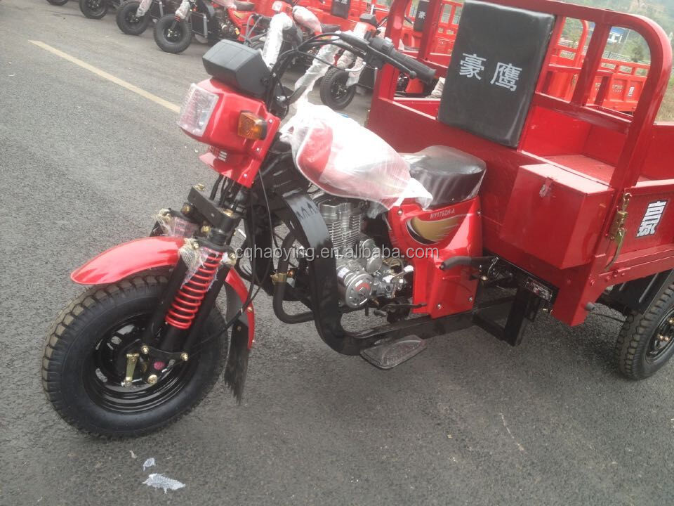 Nigerian Ghana Motor King Super Cross Open Body Three Wheel Motorcycle