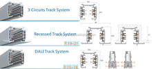 Commercial Lighting 2-pin 3-pin 4-pin track systems led track Accessories