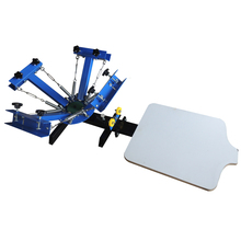 simple NS401-S 4 Color 1 Station Screen Printing Press machine Silk screen T-Shirt clothes printer