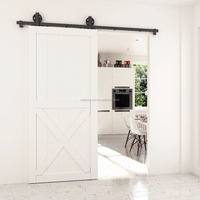 Mountain Modern Pine Wood Barn Door