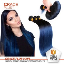 Wholesale grade 7A natural blue black straight hair weave hairstyles for black women
