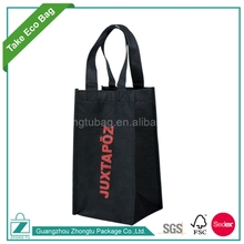 Hot Sale Christmas Non Woven Fabric Wine Tote Bag for Single Bottle