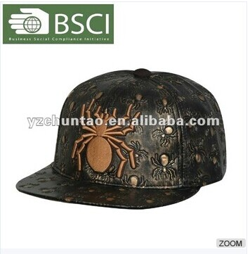 2012 Fashion Embroidery Leather Hat Straps
