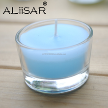 Wholesales Glass Tealight Candle Stand Round Wax Jar