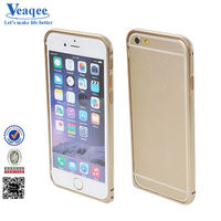 Veaqee popular screw hot metal bumper phone case for iphone 6 plus