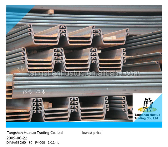 Top 10 selling steel product!!! used steel sheet piling beams for sale in china