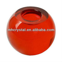 Red Sphere Crystal Tealight Candle Holder MH-1530