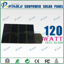 Widely use best price cheap 120W sunpower solar panel used solar equipment