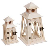 2016 Wholesale christmas craft small unfinished natural Wood Wooden Bird House