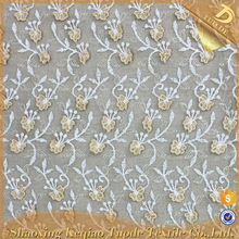 Good Supplier 3D Embroidery Embellished African Lace Fabric Uk