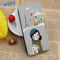 For iPhone 5, Wholesale Wallet PU Leather Cell Phone Case 2D Sublimation Cell Phone Cases For iPhone 6 Custom Design