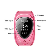 Easy hidden kids/elder/adoult tracking wrist bracelet watch gps tracker tracking device with SOS alarm S012