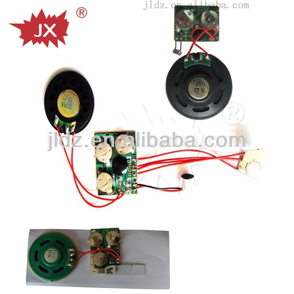 electronics Pre-recorded or recordable water/motion/light/vibration/pull tab/sound/press activated sensor module