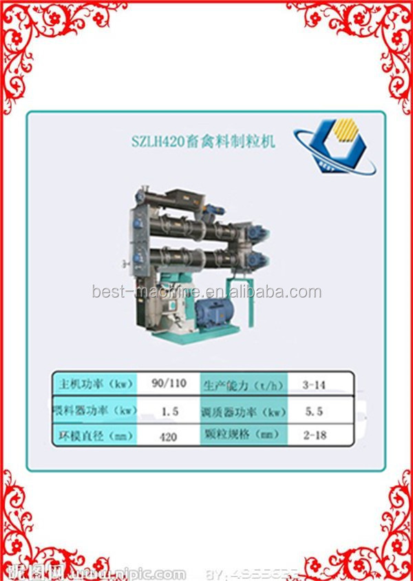 Energy saving Chicken Rabbit Cow Feed Processing Equipment /Poultry Food Pellet Machine for sale with CE approved