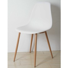 Factory customized low price white plastic chair
