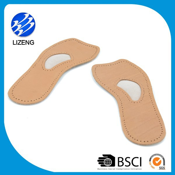 self adhesive genuine leather shoe padded insoles for high heels