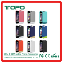 360 Degree Protect durable Hard PC material matte rubber coating two Candy Skin color plastic cell Case for iPhone 6 7 plus