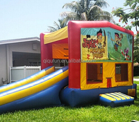 interesting cartoon inflatable combo for kids,bouncer combo S23