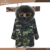Elegant factory price fur lined parka with raccoon fur hood fashion women fur lined jacket