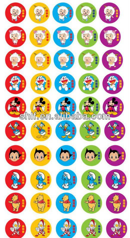 hot sale customized printed cartoon window,wall sticker for baby