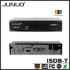 JUNUO china factory OEM producefull HD 1080P USB2.0 free to air chile isdb-t converter box