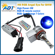 Newest led marker lamp rgb color led angel eyes for bmw e92 changing color angel eye bulbs