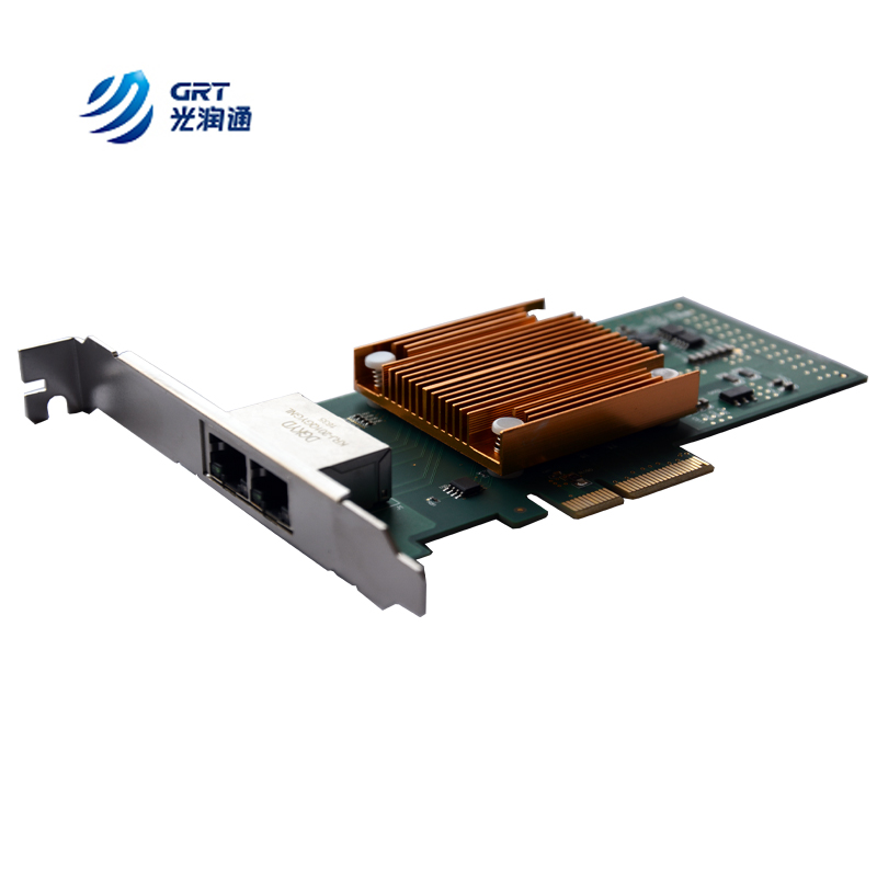 GRT Intel I350AM2 2-Port 10/100/1000Base-T x4lane   PCI Express 2.1 Ethernet Network Card compatible with V4A91AA