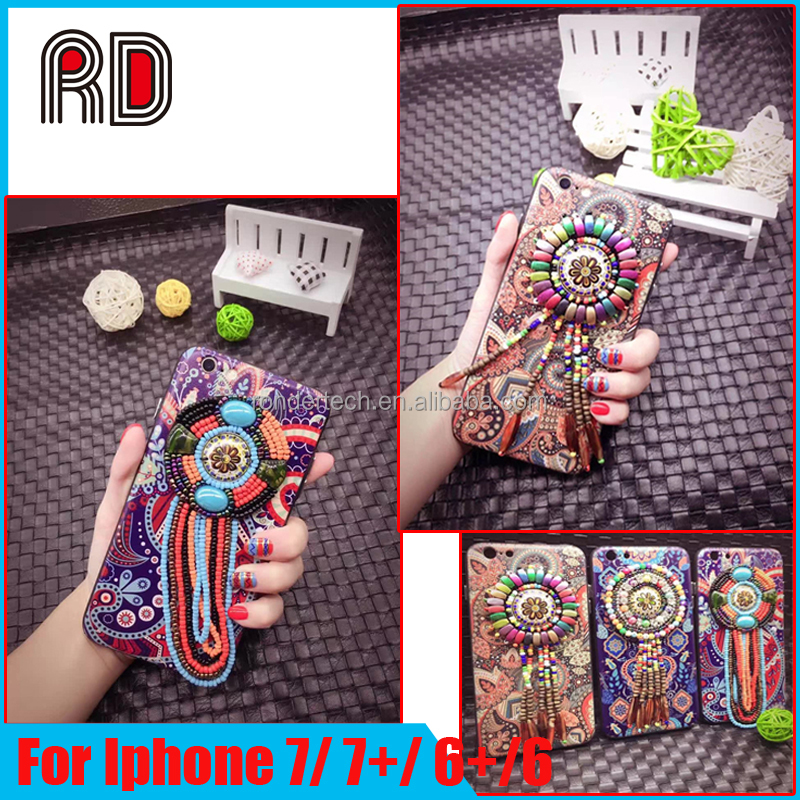 2016 New Creative Retro Totem Pattern Ethnic Style Jewel Phone Case Back Covers For iPhone 6 6s