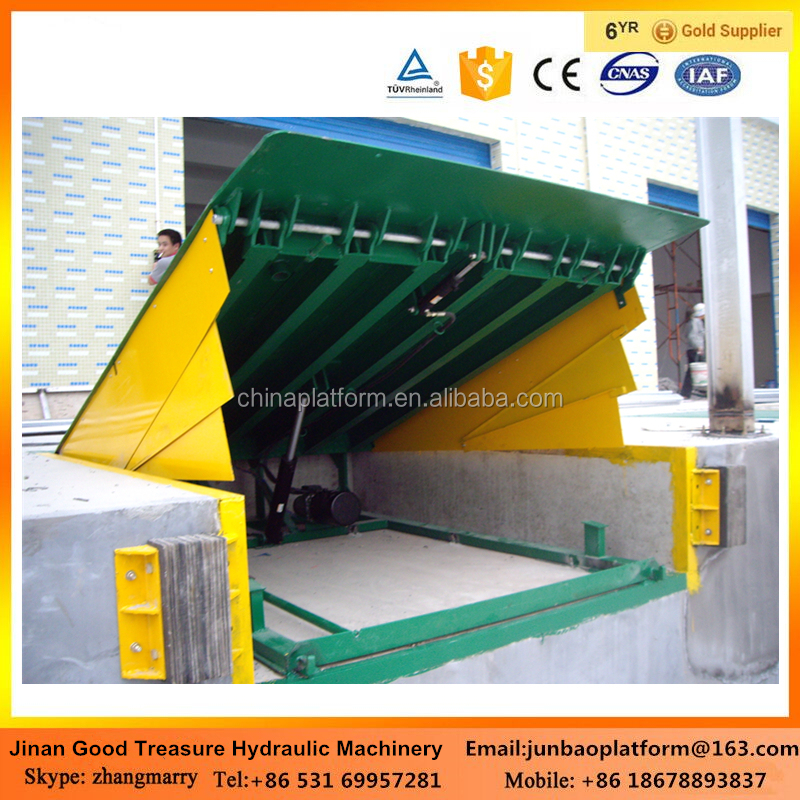 manual operation stationary hydraulic dock ramp/loading dock/dock leveler