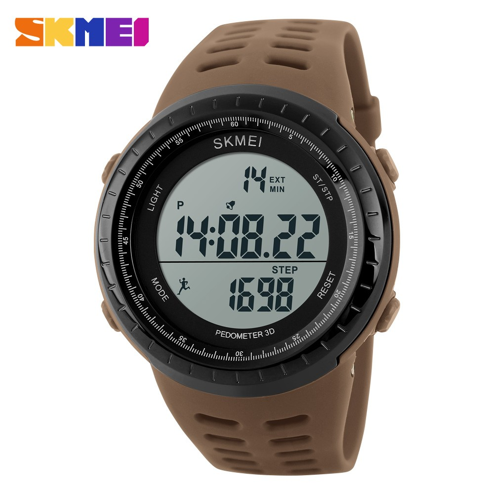 Pedometer Heart Rate Monitor watches PU strap led digital boys electronics wristwatch young men watch