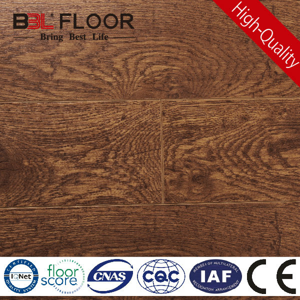 8mm Thickness AC3 Emboss Registered unfinished oak flooring 98883-2