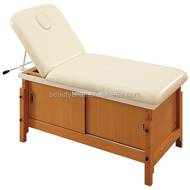 2017 Chinese Wholesale White Cosmetic Massage Beauty Bed Salon Furniture
