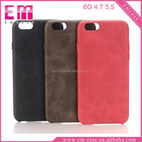 Leather Skin Sticker Back Cover Case For iPhone 6/6s plus Shockproof Plastic Case For iPhone 6/6s