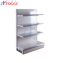light duty metal display store shelf for supermarket
