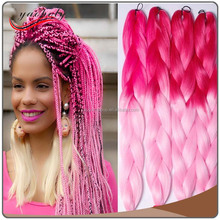 Multi-colored Jumbo Hair Braiding