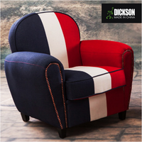 Dickson France National Flag Design Comfortable Fabric One or Two Seat Sofa