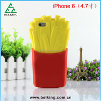 4.7inches!!! Custom French Fries Silicon Case for 6G, for iphone 6 Silicon French Fries Case