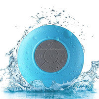 Water Resistant Bluetooth 3.0 Shower Speaker Handsfree Portable Speakerphone with Built-in Mic, 6hrs of playtime,Control Buttons