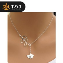 2015 new design hot sale silver plated Simple hollow owl lucky Infinity 8 Geometric bird Fatima hand cross pendant Necklace