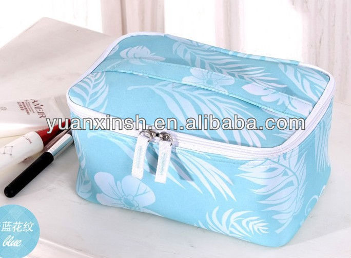 2013 ladies casual design polyester cosmetic bag