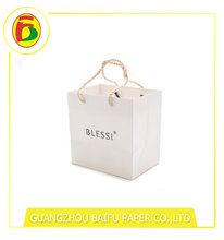 Guangzhou Luxury White Custom Paper Bag With Handle