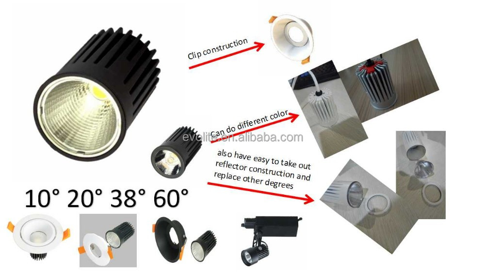 CE RoHS 5w Led spotlight High Power cob Led Spot Light