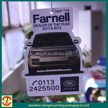 2014 smell car paper from Chengtai,make hanging paper car air freshener