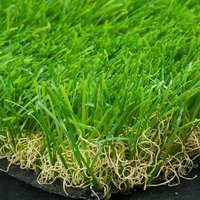 "pile height 40mm 3/8"" gauge PP PE artificial turf grass for landscape and garden"