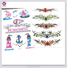 Best Colourful Promotion Sailing And Shell Design Waterproof Non-toxic Kids Body Tattoos Sticker