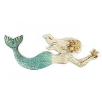 Swimming Mermaid Resin Wall Art For Home Decor